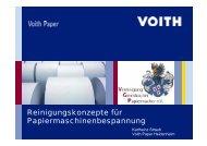 Reinigungskonzepte für Papiermaschienen - gernsbacher-meister.de