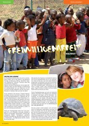 Freiwilligenarbeit - TravelWorks