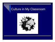 Culture in My Classroom - Saskatoon Public Schools