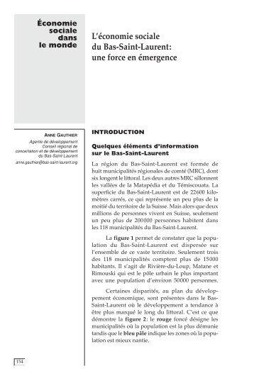 L'économie sociale du Bas-Saint-Laurent : une force en ... - CIRIEC