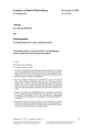 Stellungnahme - FDP/DVP-Fraktion