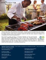Savour the Local Flavour - Nova Scotia