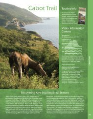 Cabot Trail Touring Info - Nova Scotia