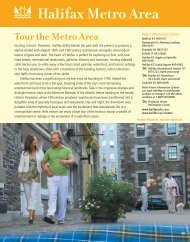 Tour the Metro Area - Nova Scotia