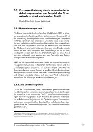 3.3 Prozessoptimierung durch teamorientierte Arbeitsorganisation ...