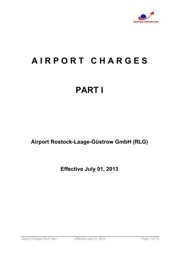 Airport Carges Part 1 - Flughafen Rostock-Laage