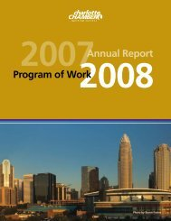 2007Annual Report Program of Work - Charlotte Chamber of ...