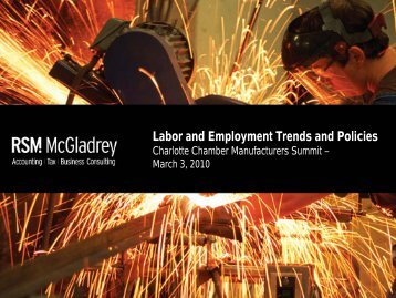 Labor and Employment Trends and Policies - Charlotte Chamber of ...