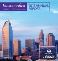 BusinessFirst 2012 annual report. - Charlotte Chamber of Commerce