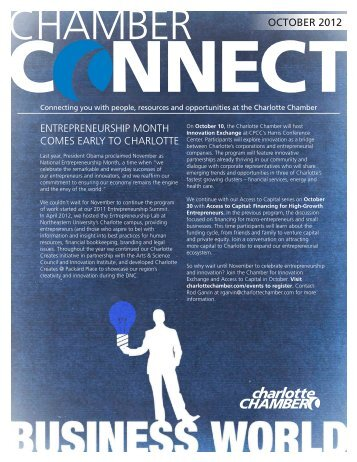 october 2012 entrepreneurship month comes early to charlotte