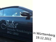 Bilder vom 2. Tag - Weinbauverband Württemberg eV