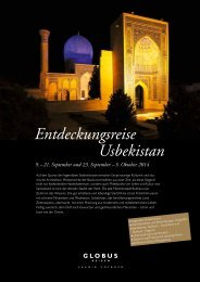 5. Oktober 2014 Entdeckungsreise Usbekistan - Globus Reisen