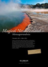 Magical New Zealand – Mietwagenrundreise - Globus Reisen