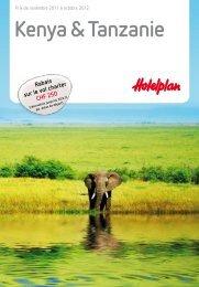 Kenya & Tanzanie - Hotelplan