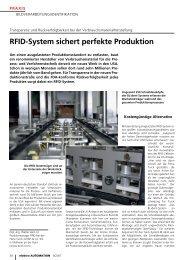 RFID-System sichert perfekte Produktion - TURCK