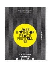 programma: jazz & wine of peace - Turismo Friuli Venezia Giulia