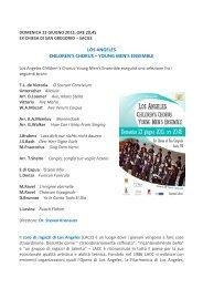 Coro Los Angeles - Turismo Friuli Venezia Giulia