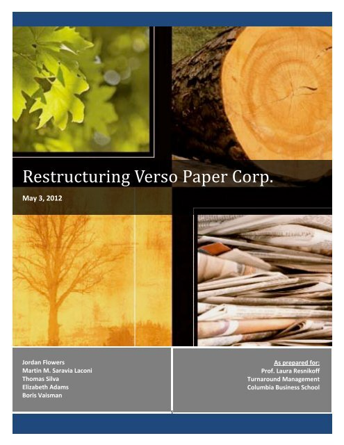 Restructuring Verso Paper Corp. - Turnaround Management ...