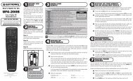 UF4 200B manual version 1.0 - My Account