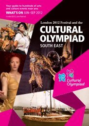 London 2012 Festival Cultural Olympiad South East brochure