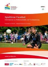 Spielführer Faustball - Das ist Turnfest