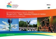 Be part of it – Town Twinning Citizens in motion
