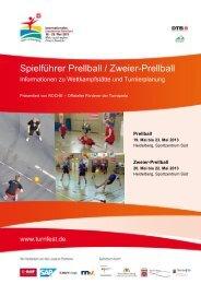 Spielführer Prellball / Zweier-Prellball - Das ist Turnfest