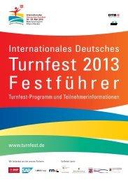 Festführer Turnfest 2013 – Gesamtversion - Das ist Turnfest