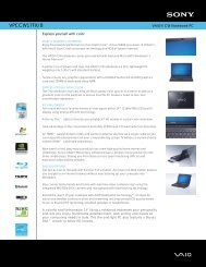VPCCW17FX/B - Sony Electronics News and Information