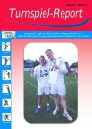 Ausgabe 08/2013 - Bayerischer Turnspiel- Verband