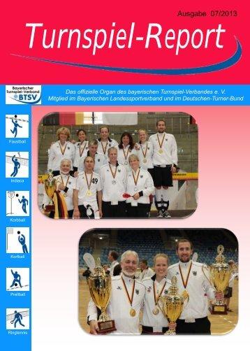 Ausgabe 07/2013 - Bayerischer Turnspiel- Verband