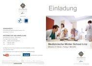 Programm - Krankenhaus der Barmherzigen Schwestern Linz