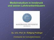Klinisch praktisches Jahr in Innsbruck - TurnusDoc