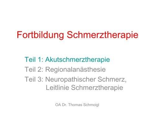 Fortbildung Schmerztherapie - TurnusDoc