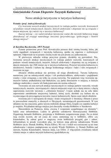 Gnieźnieńskie Forum Ekspertów Turystyki Kulturowej Nowe atrakcje ...