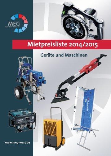 Mietpreisliste 2014/2015