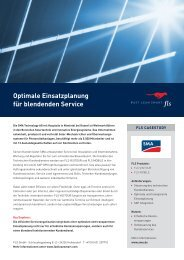 Optimale Einsatzplanung für ­blendenden Service - FLS CASE STUDIES | SMA
