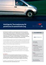 Intelligente Tourenplanung für pünktliche Ersatzteillieferung - FLS CASE STUDIES | PV AUTOMOTIVE