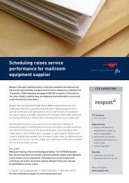 Überlegene Termin- und Tourenplanung mit der die Post abgeht - FLS CASE STUDIES | NEOPOST