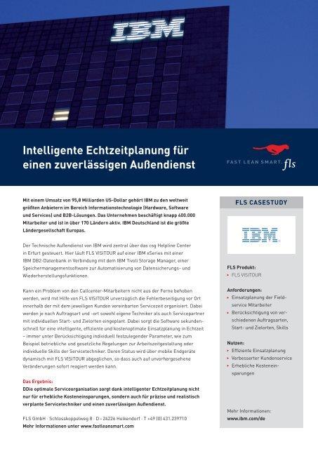 Intelligente Echtzeitplanung für einen zuverlässigen Außendienst - FLS CASE STUDIES | IBM
