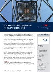 Hochkomplexe Auftragsplanung für zuverlässige Energie - FLS CASE STUDIES | ENBW
