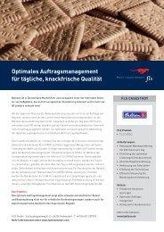 Optimales Auftragsmanagement für tägliche, knackfrische Qualität - FLS CASE STUDIES | BAHLSEN
