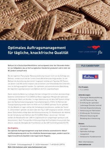 Optimales Auftragsmanagement für tägliche, knackfrische Qualität - FLS CASE STUDIES   BAHLSEN