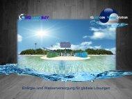 Energie- und Wasserversorgung für globale Lösungen