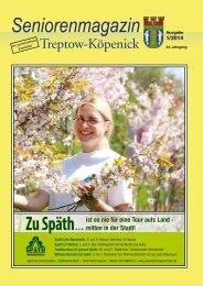 Seniorenmagazin Treptow-Köpenick - 1. Ausgabe 2014