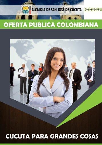 OFERTA PUBLICA COLOMBIANA CUCUTA PARA GRANDES COSAS