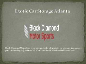 Exotic Car Storage Atlanta