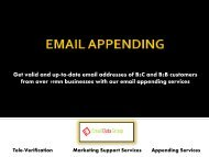 Get Better B2B Clients Through Email Appending Services
