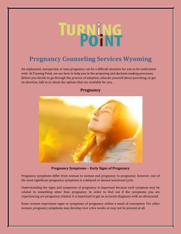 Pregnancy Counseling Services Wyoming