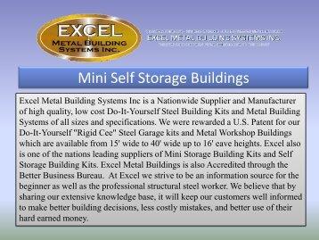 Mini Self Storage Buildings